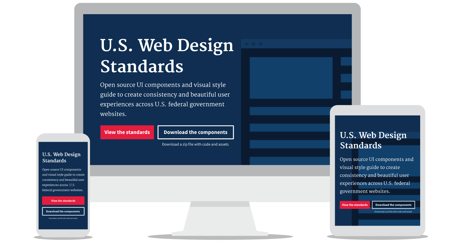 U.S. Web Design Standards Mockup